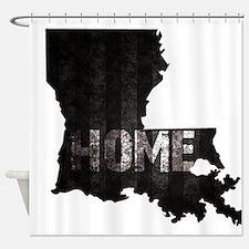 Louisiana Home Black and White Shower Curtain