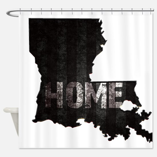 Louisiana Home Black and White Shower Curtain