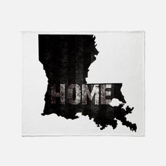 Louisiana Home Black and White Throw Blanket