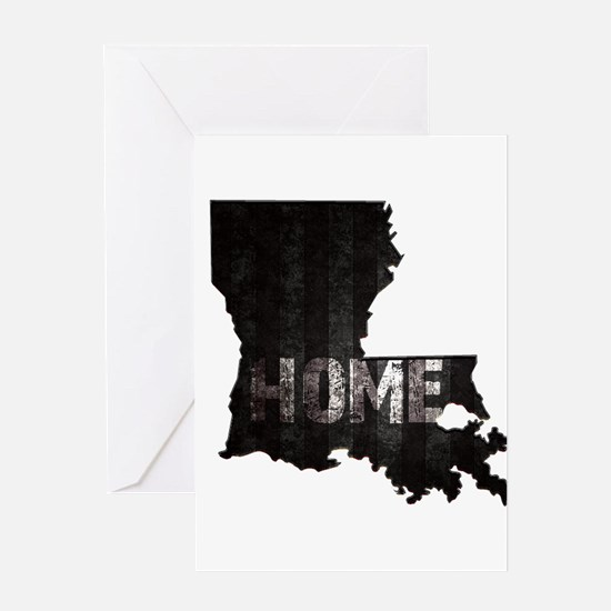 Louisiana Home Black and White Greeting Cards