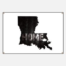 Louisiana Home Black and White Banner