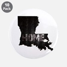 """Louisiana Home Black and Whi 3.5"""" Button (10 pack)"""