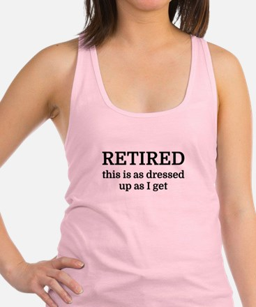 RETIRED this is as dressed up a Racerback Tank Top