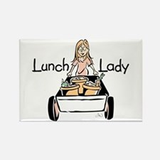 Lunch Lady Rectangle Magnet