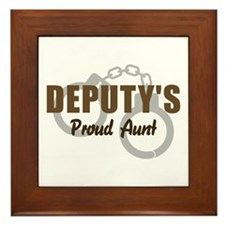 Deputy's Proud Aunt Framed Tile