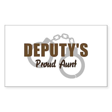 Deputy's Proud Aunt Rectangle Sticker