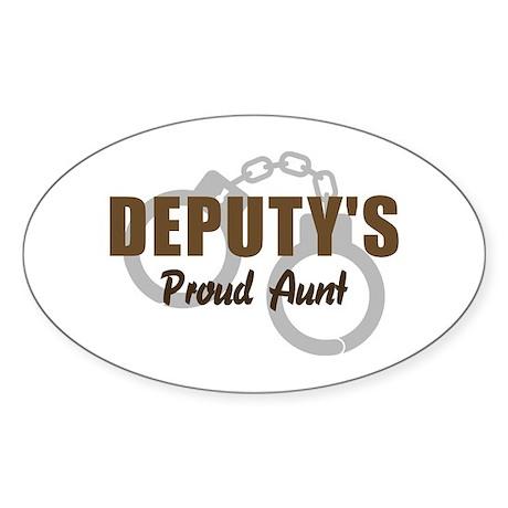 Deputy's Proud Aunt Oval Sticker
