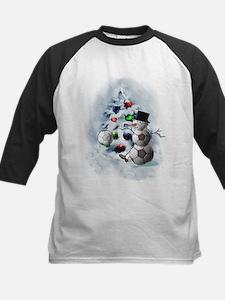 Soccer Ball Snowman Christmas Baseball Jersey