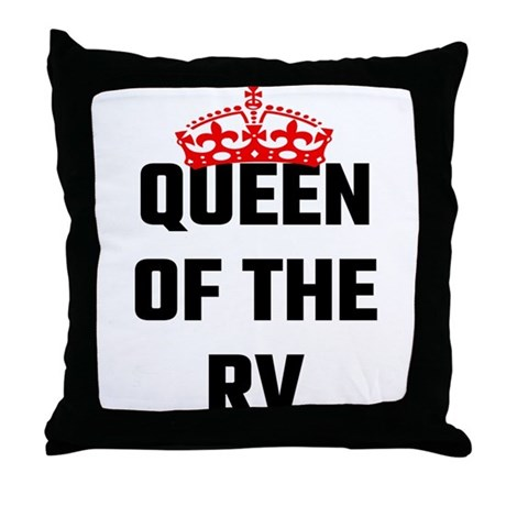 Queen Throw Pillow : Queen Of The RV Throw Pillow by Admin_CP127514479