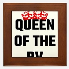 Queen Of The RV Framed Tile