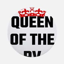 Queen Of The RV Round Ornament