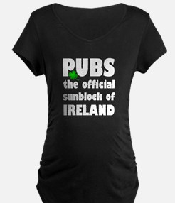 PUBS the official sunblock of IR Maternity T-Shirt