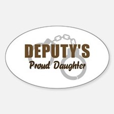 Deputy's Proud Daughter Oval Decal