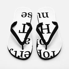 Property of a HOT nurse Flip Flops
