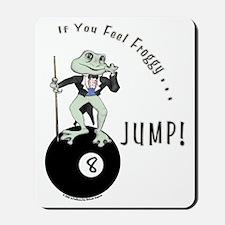 8 Ball Billiard Frog Cartoon Mousepad