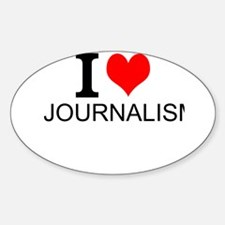 I Love Journalism Decal