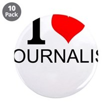 """I Love Journalism 3.5"""" Button (10 pack)"""