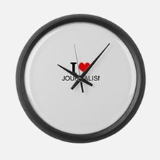 I Love Journalism Large Wall Clock