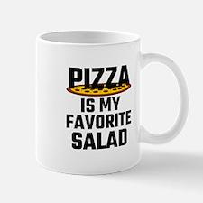 Pizza Is My Favorite Salad Mugs