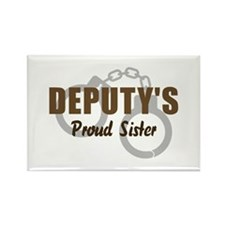 Deputy's Proud Sister Rectangle Magnet