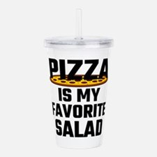 Pizza Is My Favorite S Acrylic Double-wall Tumbler