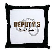 Deputy's Proud Sister Throw Pillow