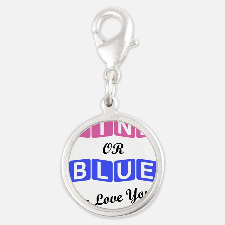 Pink Or Blue We Love You Charms