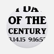 Pi Day Of The Century Round Ornament
