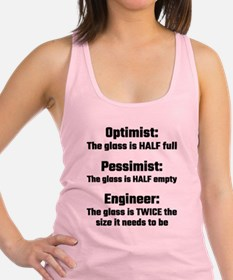 Optimist, Pessimist, Engineer Racerback Tank Top