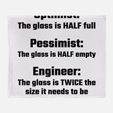 Optimist, Pessimist, Engineer Throw Blanket