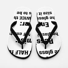 Optimist, Pessimist, Engineer Flip Flops