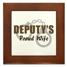 Deputy's Proud Wife Framed Tile