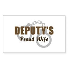 Deputy's Proud Wife Rectangle Decal