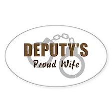 Deputy's Proud Wife Oval Decal