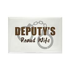 Deputy's Proud Wife Rectangle Magnet