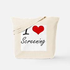I love Screening Tote Bag