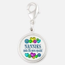 Nannies More Special Silver Round Charm