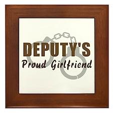 Deputy's Proud Girlfriend Framed Tile
