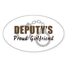 Deputy's Proud Girlfriend Oval Decal