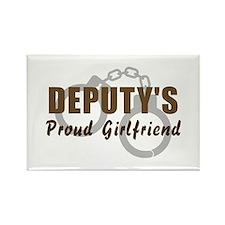 Deputy's Proud Girlfriend Rectangle Magnet