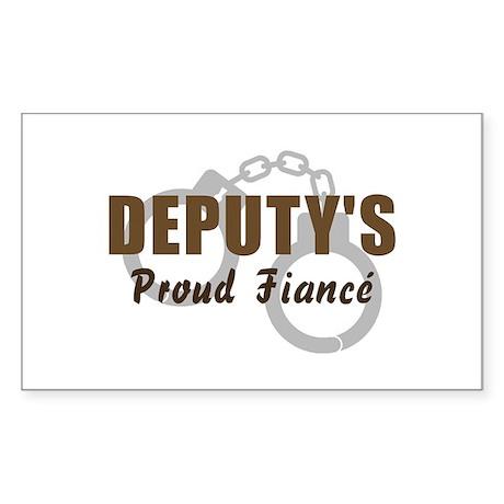 Deputy's Proud Fiancé Rectangle Sticker