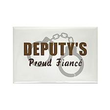 Deputy's Proud Fiancé Rectangle Magnet