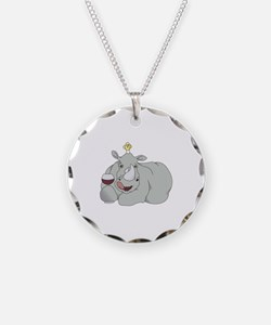 Rhino with Wineglass Necklace