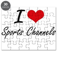 I love Sports Channels Puzzle