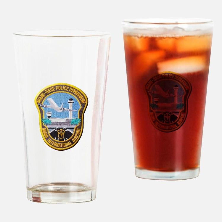 Cute Miami police miami Drinking Glass