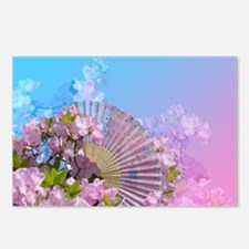 Floral Fan Postcards (Package of 8)