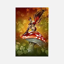 Autumn Fairy Rectangle Magnet