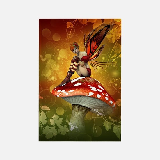 Autumn Fairy Rectangle Magnet