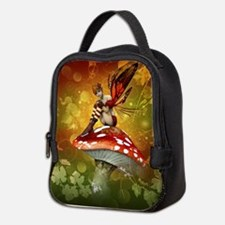 Autumn Fairy Neoprene Lunch Bag