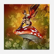 Autumn Fairy Tile Coaster